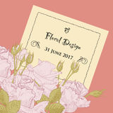 Romantic floral background with roses and Royalty Free Stock Photography