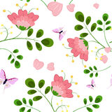 Romantic floral background seamless Royalty Free Stock Photo