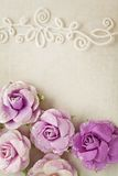 Romantic floral frame background Royalty Free Stock Photo