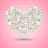 Romantic floral heart Royalty Free Stock Image