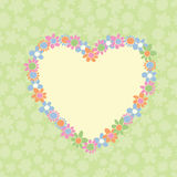 Romantic Floral Heart- Shaped Frame Royalty Free Stock Image