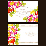 Romantic floral invitation Royalty Free Stock Photography