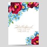 Romantic floral invitation Royalty Free Stock Photo