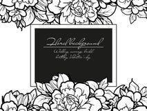 Romantic floral invitation Stock Photography