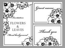 Romantic floral invitation Stock Images