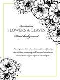 Romantic floral invitation Royalty Free Stock Photos