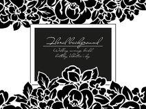 Romantic floral invitation Royalty Free Stock Images