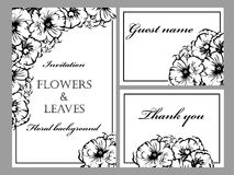 Romantic floral invitation Stock Photography