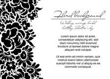Romantic floral invitation Stock Image