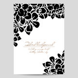Romantic floral invitation Stock Image