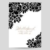Romantic floral invitation Royalty Free Stock Image