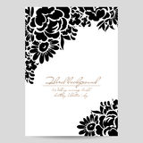 Romantic floral invitation Stock Photos