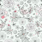 Romantic floral pattern Stock Photography