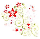 Romantic floral pattern Royalty Free Stock Image