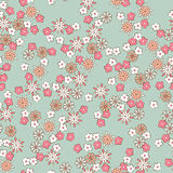 Romantic floral seamless pattern Stock Photography