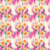 Romantic floral seamless pattern Stock Photos