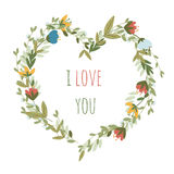 Romantic floral vector background. Stock Image