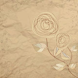 Romantic floral with vintage roses. EPS 8 Stock Image