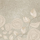 Romantic floral with vintage roses. EPS 8. Romantic floral background with vintage roses. And also includes EPS 8 Stock Photos