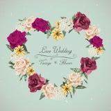 Romantic floral wedding invitation design Royalty Free Stock Photo