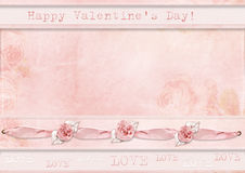 Romantic flower background with frame Stock Image