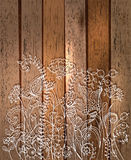 Romantic flower background, natural doodle illustration Stock Photos