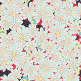 Romantic flower Background seamless pattern. Seamless floral pattern of hand drawn flowers Stock Photo