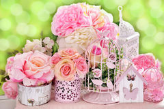 Romantic flower decoration for wedding Stock Images