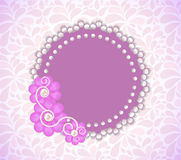 Romantic Flower Frame Vector Background Royalty Free Stock Image