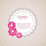 Romantic Flower Vintage Invitation Card Vector Background Royalty Free Stock Photography