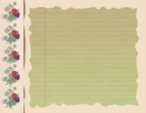 Vintage frame: Romantic Flowery Note Pad Royalty Free Stock Photography
