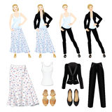 Romantic and formal style of clothes Royalty Free Stock Photo