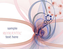 Romantic fractal frame Stock Photography