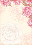 Romantic frame. Floral background. Card. Royalty Free Stock Image