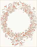 Romantic frame. Royalty Free Stock Photo