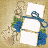 Romantic frame with flowers Stock Image
