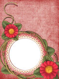 Romantic frame with flowers Royalty Free Stock Photography