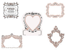 Romantic frames Royalty Free Stock Photography