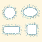 Romantic frames set. Four сute, vintage decorative frames Royalty Free Stock Photography