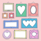 Romantic frames Royalty Free Stock Photo