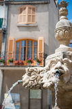 Romantic French fountain Royalty Free Stock Photo