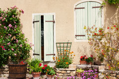 Romantic French house Stock Images