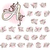 Romantic French retro alphabet Royalty Free Stock Photo