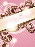 Romantic French retro banner, vertical Royalty Free Stock Photography
