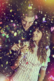 Romantic and fun New Year's celebration Stock Images
