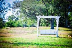 Romantic Garden Bench Swing Royalty Free Stock Photo