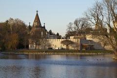 Romantic garden castle Franzensburg Royalty Free Stock Photo