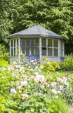 Romantic garden gazebo Royalty Free Stock Images