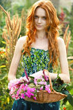 Romantic Garden Girl At Summer Royalty Free Stock Photography
