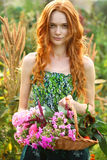 Romantic garden girl at summer Stock Photo